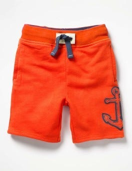 Ziggy Red Anchor Appliqué Sweatshorts