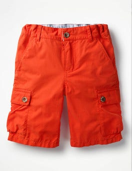 Jam Red Summer Cargo Shorts