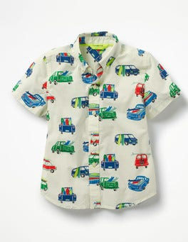 Ecru Multi Surf Vans Fun Short-sleeved Shirt