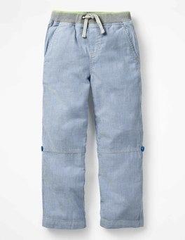 Skipper Blue/Ecru Surf Roll-up Trousers
