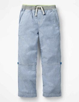Skipper Blue/Ecru Surf Roll-up Pants