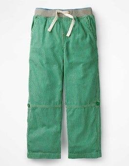 Moringa Green/Ecru Surf Roll-up Pants