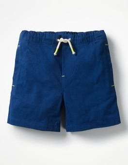 Beacon Blue Drawstring Shorts