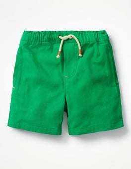 Runner Bean Green Drawstring Shorts