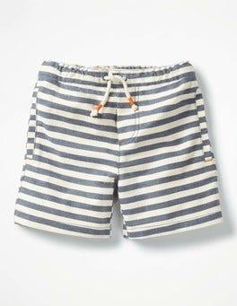 Beacon Blue/Ecru Drawstring Shorts
