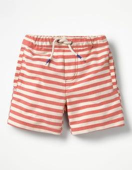Salsa Red/Ecru Drawstring Shorts