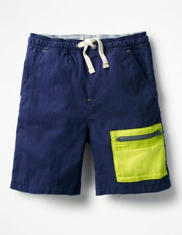 Beacon Blue Colourblock Shorts