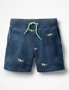 Beacon Blue Shark Jersey Shorts