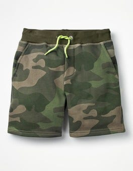 Khaki Green Camo Jersey Shorts