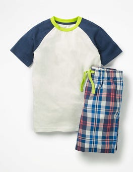 Beacon Blue/Soft Red Short Pyjama Set