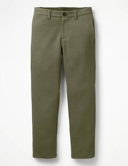 Khaki Green Jersey Chinos