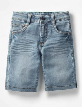 Light Vintage Jersey Denim Shorts