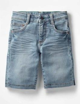 Light Vintage Jersey Denim Shorts