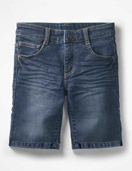 Mid Vintage Jersey Denim Shorts