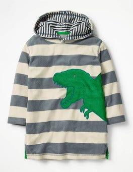 Runner Bean Green Dino Towelling Throw-on
