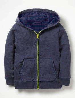 Ultra Marine Blue Garment-Dyed Zip-up Hoodie