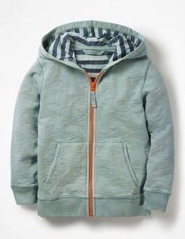 Shore Blue Garment-Dyed Zip-up Hoodie