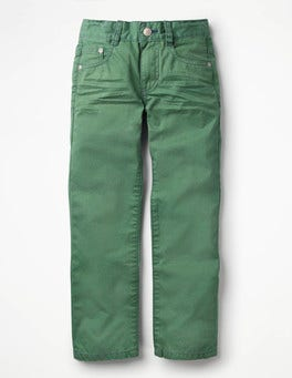 Rosemary Green Coloured Slim Jeans