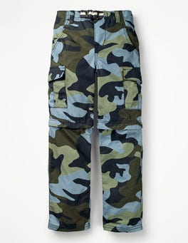 Army Green Camo Zip-off Cargos