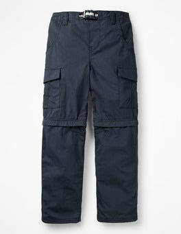 School Navy Zip-off Cargos
