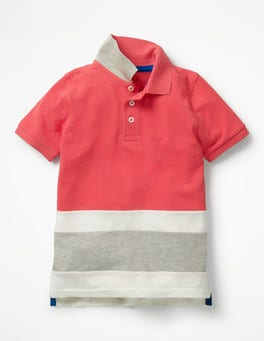 Jam Red Colourblock Piqué Polo Shirt