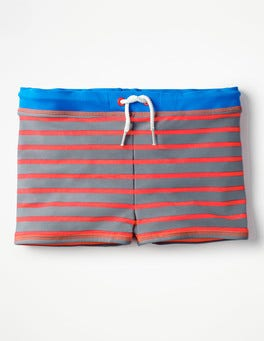 Raft Grey/Fiery Coral Red Swim Trunks