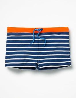 Beacon Blue/Ivory Swim Trunks