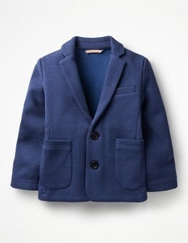 Beacon Blue Jersey Blazer