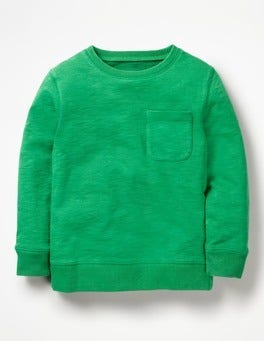 Runner Bean Green Garment-Dyed Sweatshirt