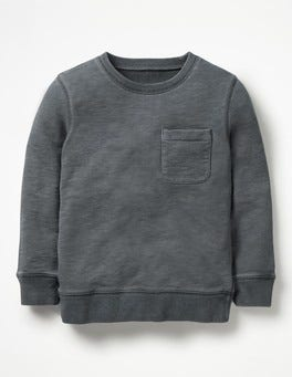 Raft Grey Garment-Dyed Sweatshirt