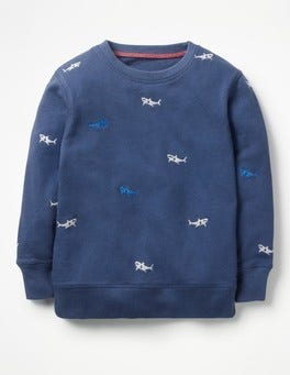 Beacon Blue Embroidery Castaway Sweatshirt