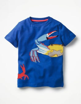 Orion Blue Crabs Aquatic Pals Appliqué T-shirt