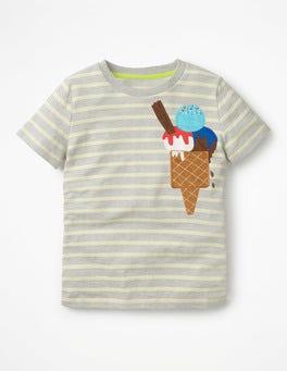 Grey Marl/Ecru Favourite Flavour T-shirt