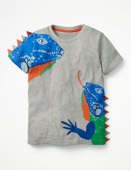 Grey Marl Iguanas 3D Animal T-shirt
