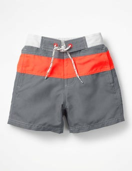 Raft Grey/Fiery Coral Red Poolside Shorts