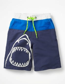 Electric Blue Shark Board Shorts
