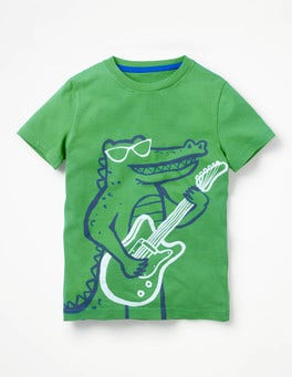 Iguana Green Croc Arty Graphic T-shirt