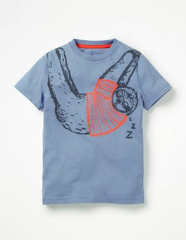 Hook Blue Sloth Arty Graphic T-shirt