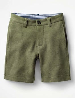 Khaki Green Jersey Chino Shorts