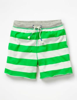Andean Toucan Green/Ivory Slub Jersey Shorts