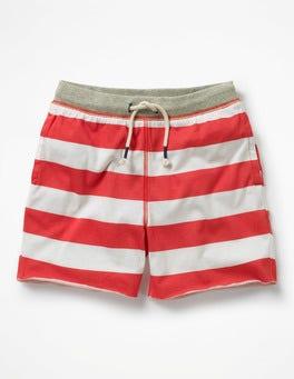 Jam Red/Ivory Slub Jersey Shorts
