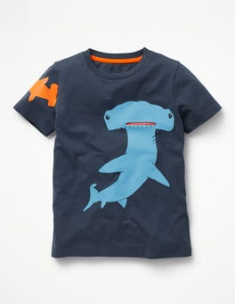 Beacon Blue Hammerhead Shark Sea Animal Pocket T-shirt