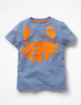 Hook Blue Crab Fluoro Graphic T-Shirt