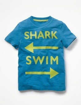 Yogo Blue Swim Printed Type T-shirt