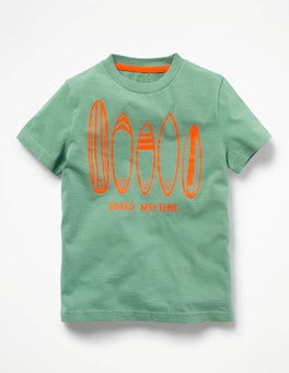 Jellyfish Green Surfboards Surf Dude Graphic T-shirt