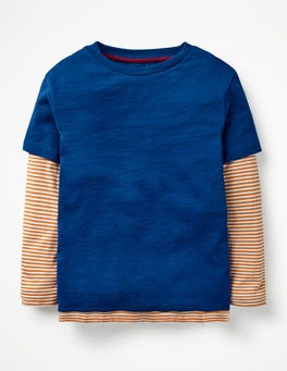Orion Blue/Sticky Toffee Layered T-Shirt