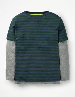Scots Pine Green/School Navy Layered T-Shirt