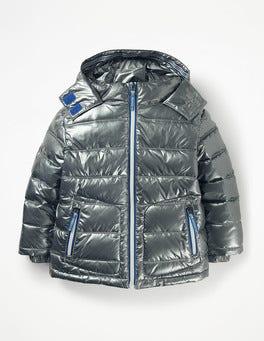 Metallic Pewter Grey Padded Jacket