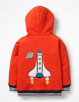 Rocket Red Rocket Raglan Shaggy Hoodie