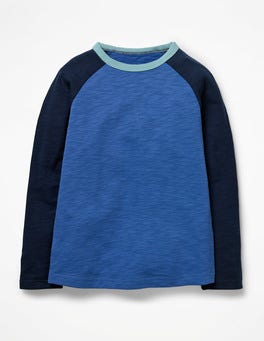 Daphne Blue/School Navy Raglan T-shirt